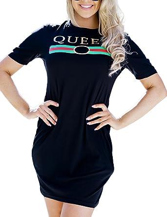 Yiwa Women Sexy Slim Short Sleeve Dress Elegant Fashion Printing