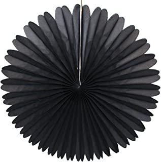 product image for 3-pack 13 Inch Tissue Paper Party Fans (Black)