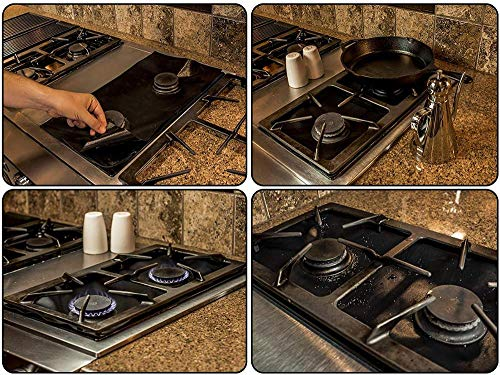 Gas Stove Burner Covers Liners 8 Pack Plus + 3 Oven Liners Mat For Bottom Of Gas Or Electric Oven Range Protectors Guard For Drip Pans