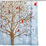 Best Collections Etc Bath Towels - Collections Etc Winter Birds Scene Christmas Shower Curtain Review