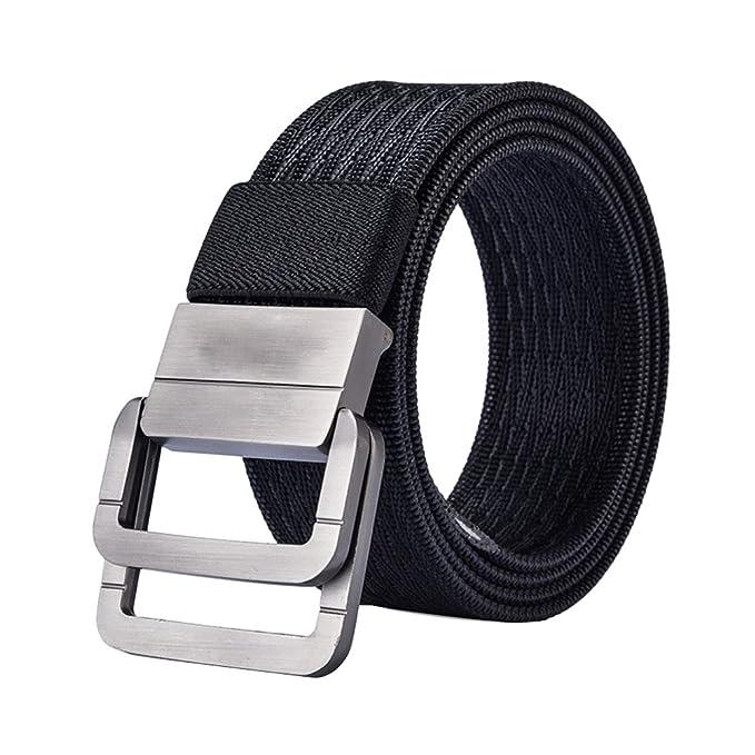 Amazon.com: zhuhaitf Durable doble hebilla cinturón cintura ...