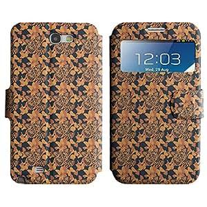 LEOCASE linda mariposa Funda Carcasa Cuero Tapa Case Para Samsung Galaxy Note 2 N7100 No.1003799