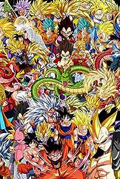 PUZZLEQI Japón Animado Dragon Ball PosterWooden Rompecabezas 300/500/1000/1500 Piezas for la Educación Adulto Muchacho de los niños de Las Amigas Regalo de la decoración (Color : F, Size : 300pcs)