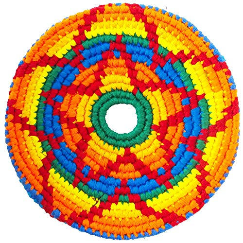 Pocket Disc Flying Disc - Crocheted Foldable Frisbee Toy Perfect for Both Kids and Adults - Supports Guatemalan Fair Trade - Kaa, Sport