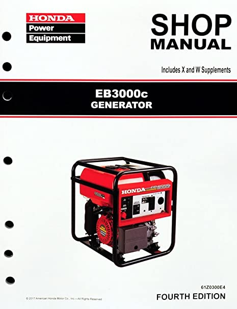 amazon com honda eb3000 generator service repair shop manual rh amazon com Honda EB3000 Owner's Manual Older Honda EB3000 Generator Parts