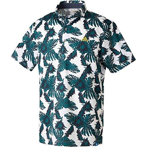 アディダス Adidas 半袖シャツ?ポロシャツ ADICROSS ボタニカルプリント 半袖ポロシャツ