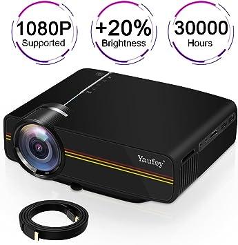 Amazon.com: yaufey Movie Proyector, Proyector de cine en ...