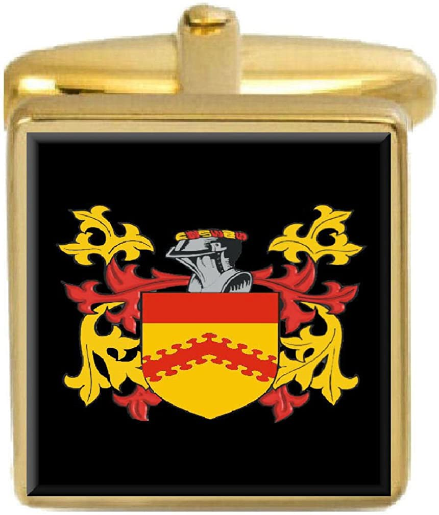Select Gifts Hilton England Family Crest Surname Coat Of Arms Gold Cufflinks Engraved Box