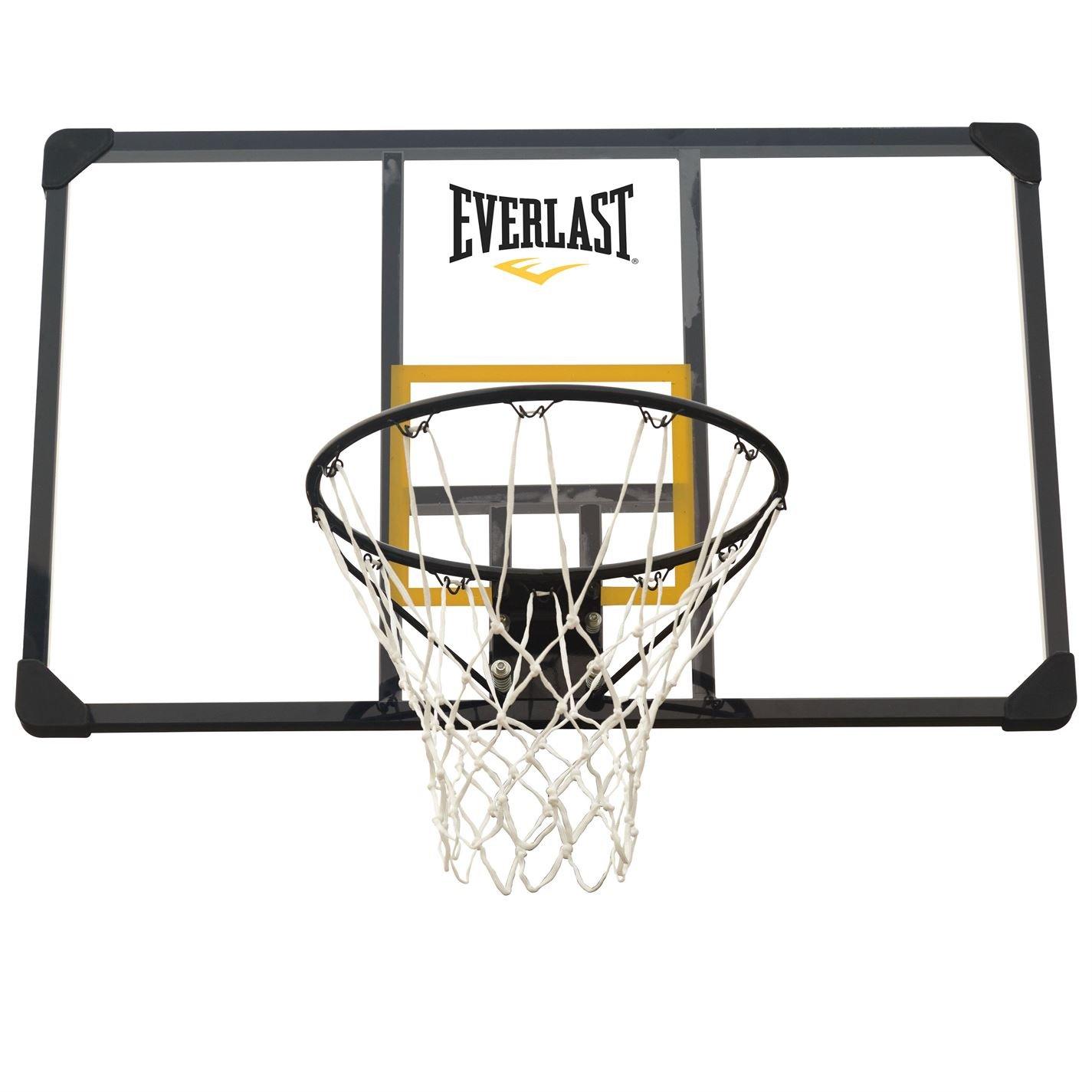 Everlast Unisex Pro - Tabla de baloncesto (transparente/amarillo ...