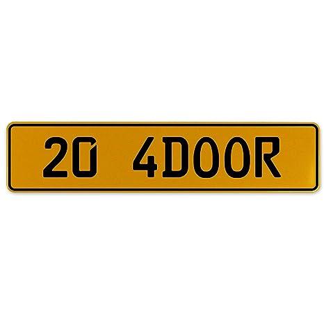 Vintage Parts 563132 20 4DOOR Yellow Stamped Aluminum European Plate