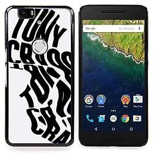 - Calligraphy Words Poster Black Grey/ Duro Snap en el tel????fono celular de la cubierta - Cao - For Huawei Nexus 6P