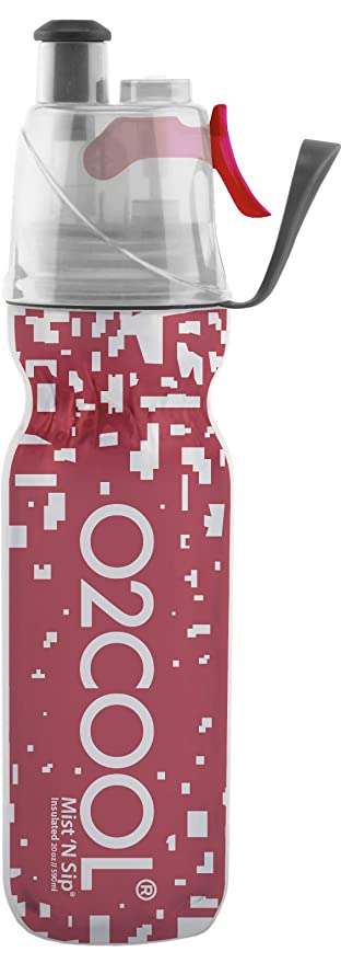 Misting Insulated Water Bottle, Mist 'N Sip Reflective Series by O2COOL, 20  oz