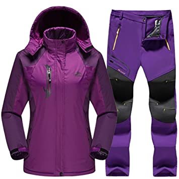 Traje de esquiar Impermeable traje de esquí for las mujeres ...