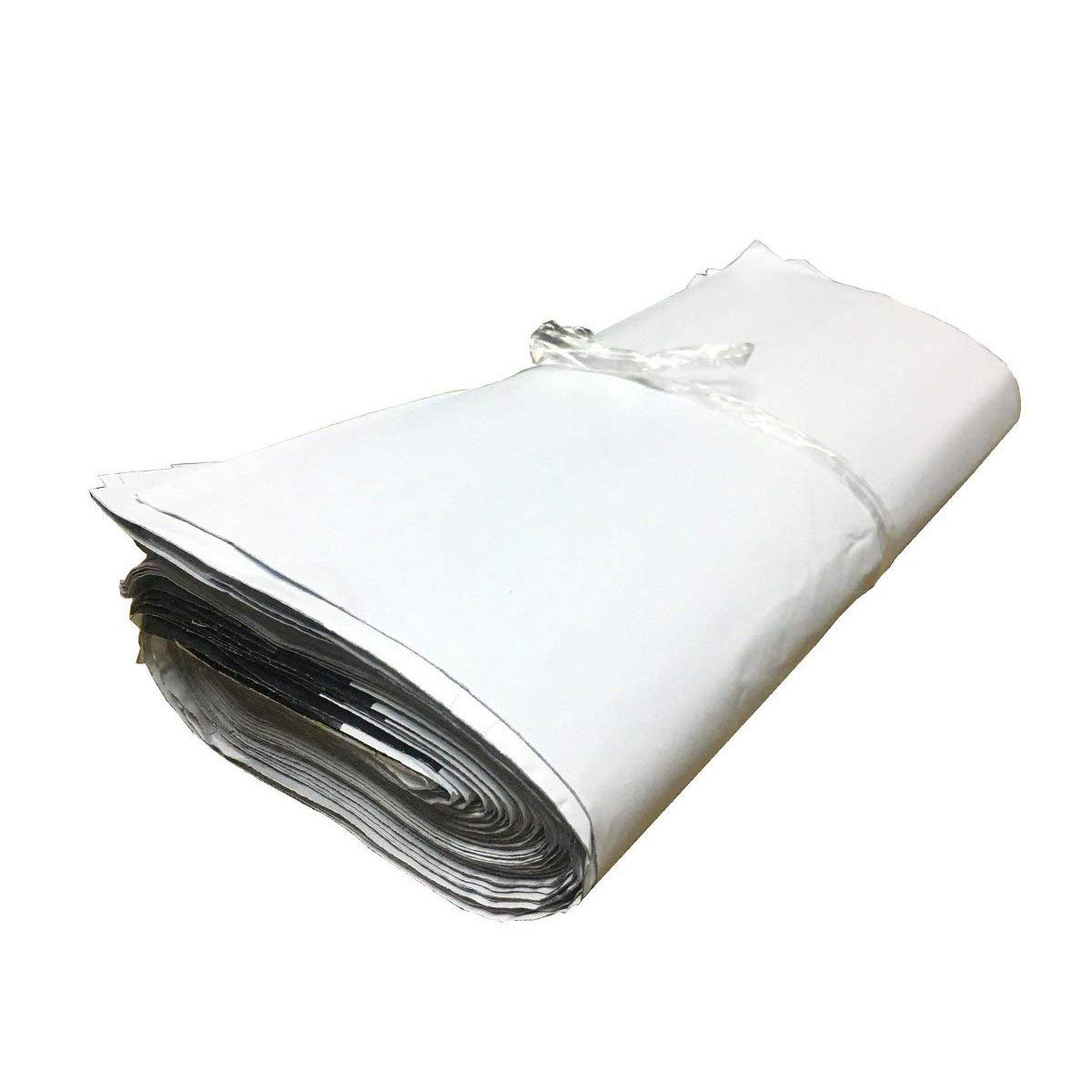 Poly Mailer 100 Mailing Bags Plastic Mail Envelope for Shipping 2.5 Mil Lightweight Postal Bags (White, 10 x 14 inch) Novelty Bank