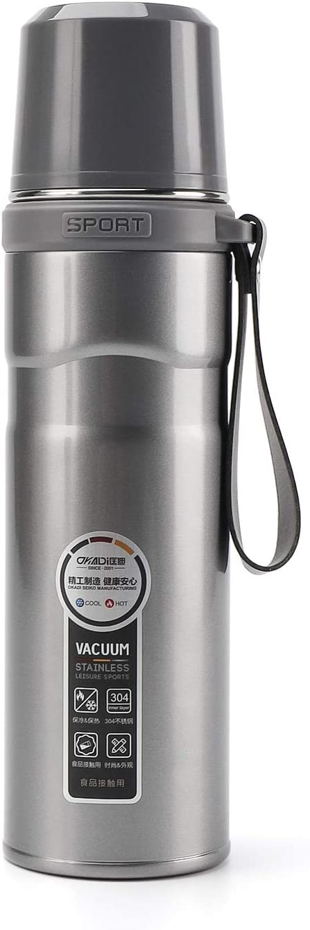OKADI Coffee Thermos - 25oz Stainless Steel - Double-Wall Vacuum Insulation Technology Bottle Keep Cold or Hot