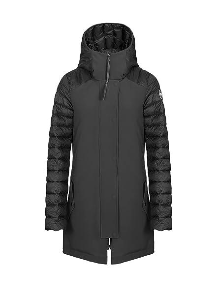 a142ad197503 Parka Donna Effetto Stropicciato Linea Research Nero Mod.2128: Amazon.it:  Abbigliamento
