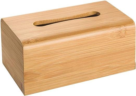 ZSLLO Caja Rectangular de pañuelos de bambú Natural hogar Sala de ...