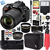Nikon D5600 24.2 MP DX-Format DSLR Camera with AF-S 18-140mm ED VR Lens Kit + 64GB Battery Grip Accessory Bundle