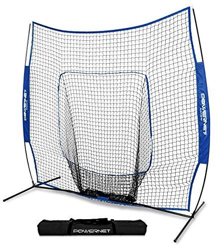 (PowerNet Team Color Baseball Softball 7x7 Hitting Net w/Bow Frame (Royal Blue))