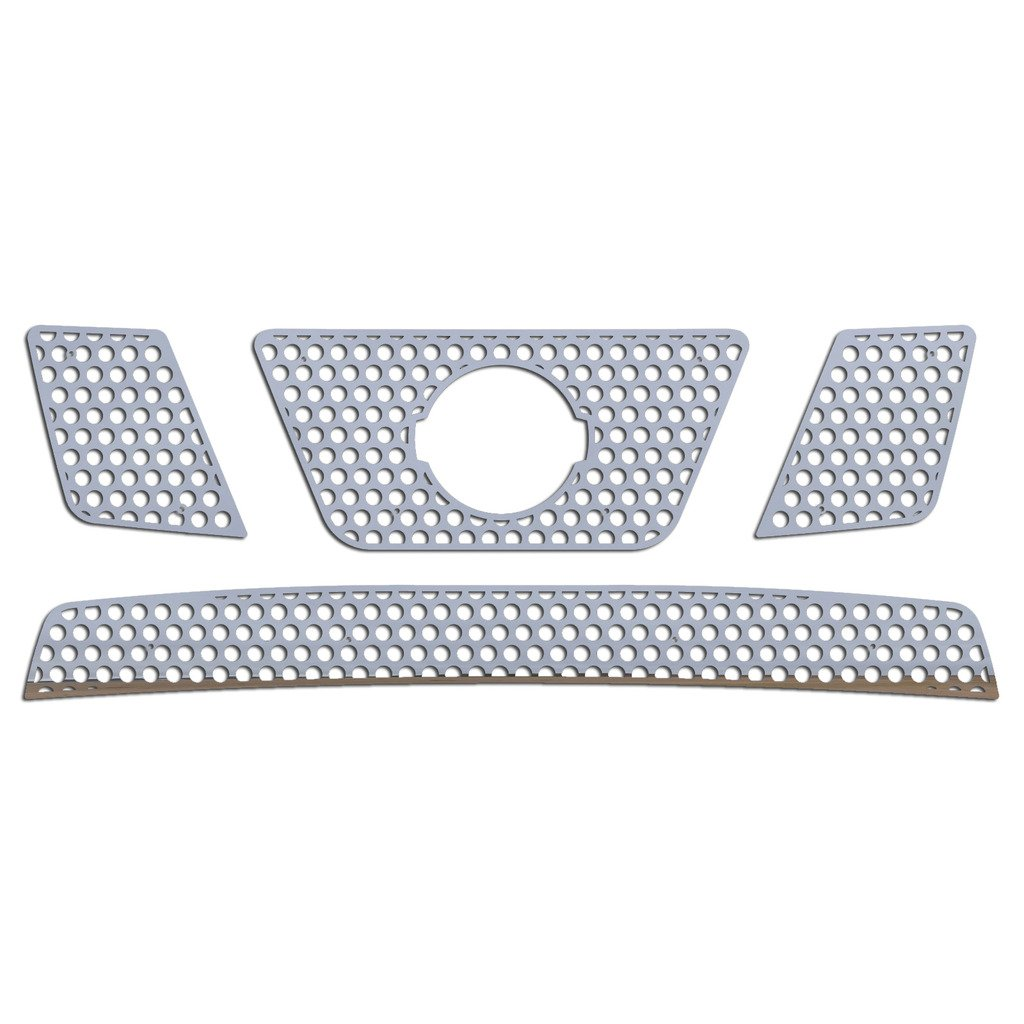 2005-2007 Nissan Pathfinder TRK-134-03-Chrome-b Ferreus Industries Grille Insert Guard Circle Punch Polished Stainless fits