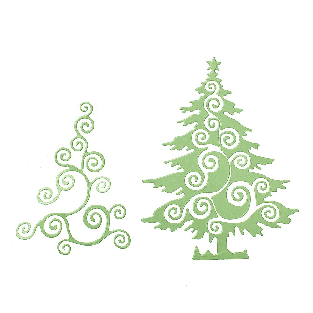 Amazon.com: Christmas Cutting Dies for DIY Scrapbook Supplies, Metal ...