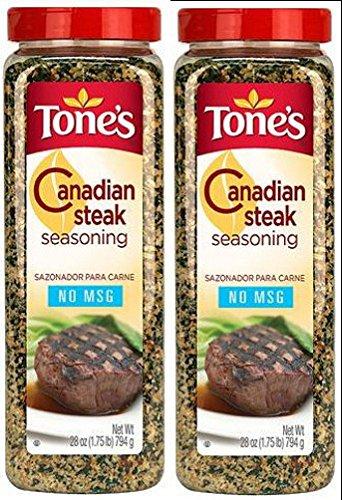 Tone's Canadian Steak Seasoning 28 oz Shaker-Pack of 2