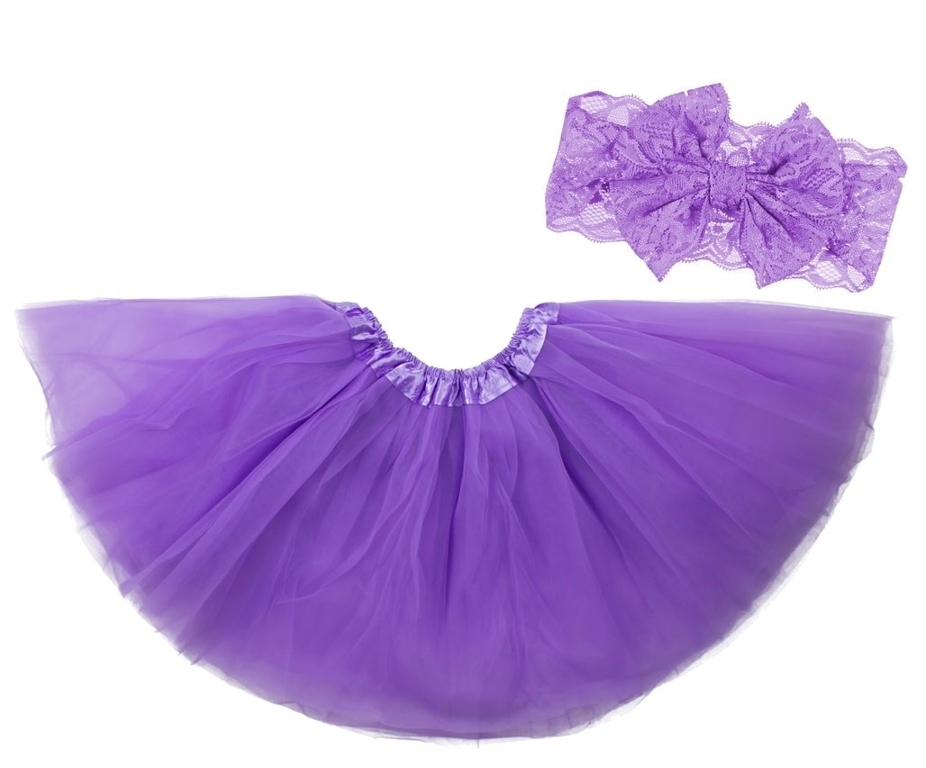 Dancina Halloween Sparkle Tutu Headband Set for Baby Girls & Toddlers 6 mo- 4 Yrs