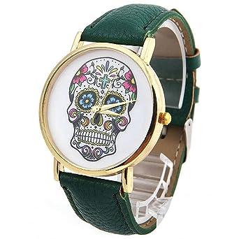 Reloj Digital DAYAN Para Con Verde Analogico Y Verde fBS-1109-68: Amazon.es: Relojes