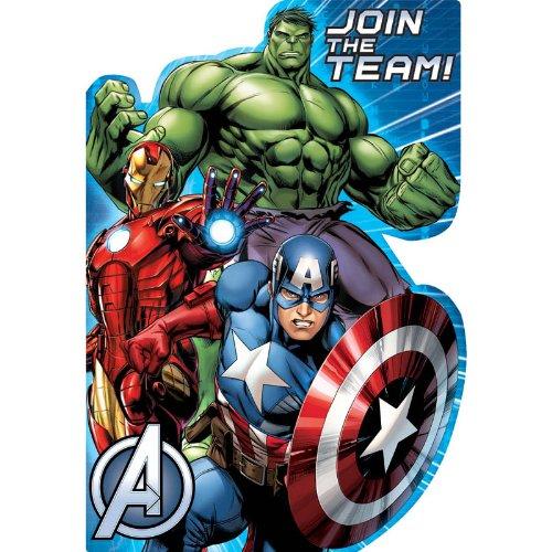 [8 Count Avengers Invitations, Multicolored] (Incredible Hulk Costume Ideas)