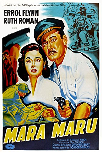 Posterazzi Maru Ruth Roman Errol Flynn (French Art) 1952. Movie Masterprint Poster Print (11 x 17)