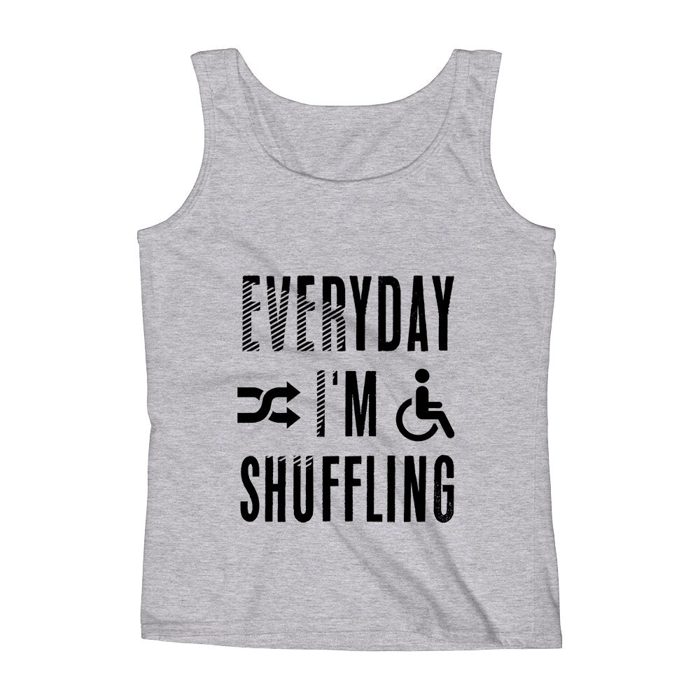 Mad Over Shirts Everyday Im Shuffling Unisex Premium Tank Top