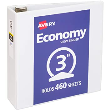 amazon co jp avery economy view binder 3 inch capacity 11 x 8 1
