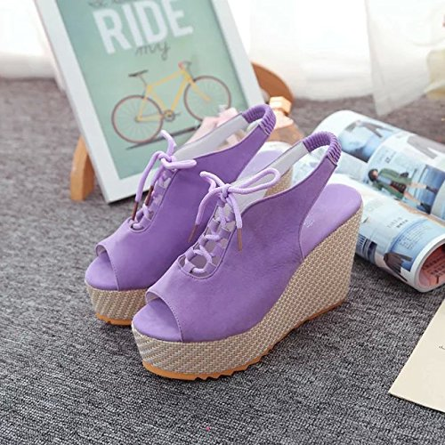 Dony Slope heel sandals, summer slope, low heels, women's sandals, heavy bottomed water tables, high heels and leisure lace students. Thirty-seven