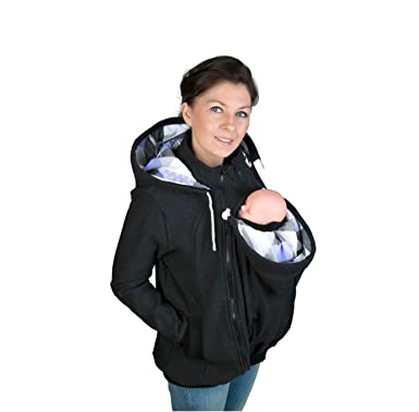 5223f85f1b26 3in1 Maternity Sweatshirt Hoodie for Baby Carriers Charcoal (4XL 5XL -  US18 20