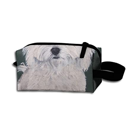21c21212b4d5 Amazon.com: KaiyuanMYRUN Cute Havanese Dog Art Women Cosmetic Bag ...