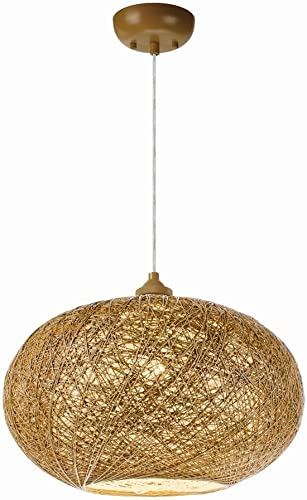 Maxim Lighting 14402NAWT Bali – 10 Inch One Light Pendant, Natural White Finish