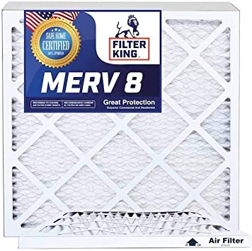 Nordic Pure 8x24x1 Exact MERV 8 Pleated AC Furnace Air Filters 1 Pack
