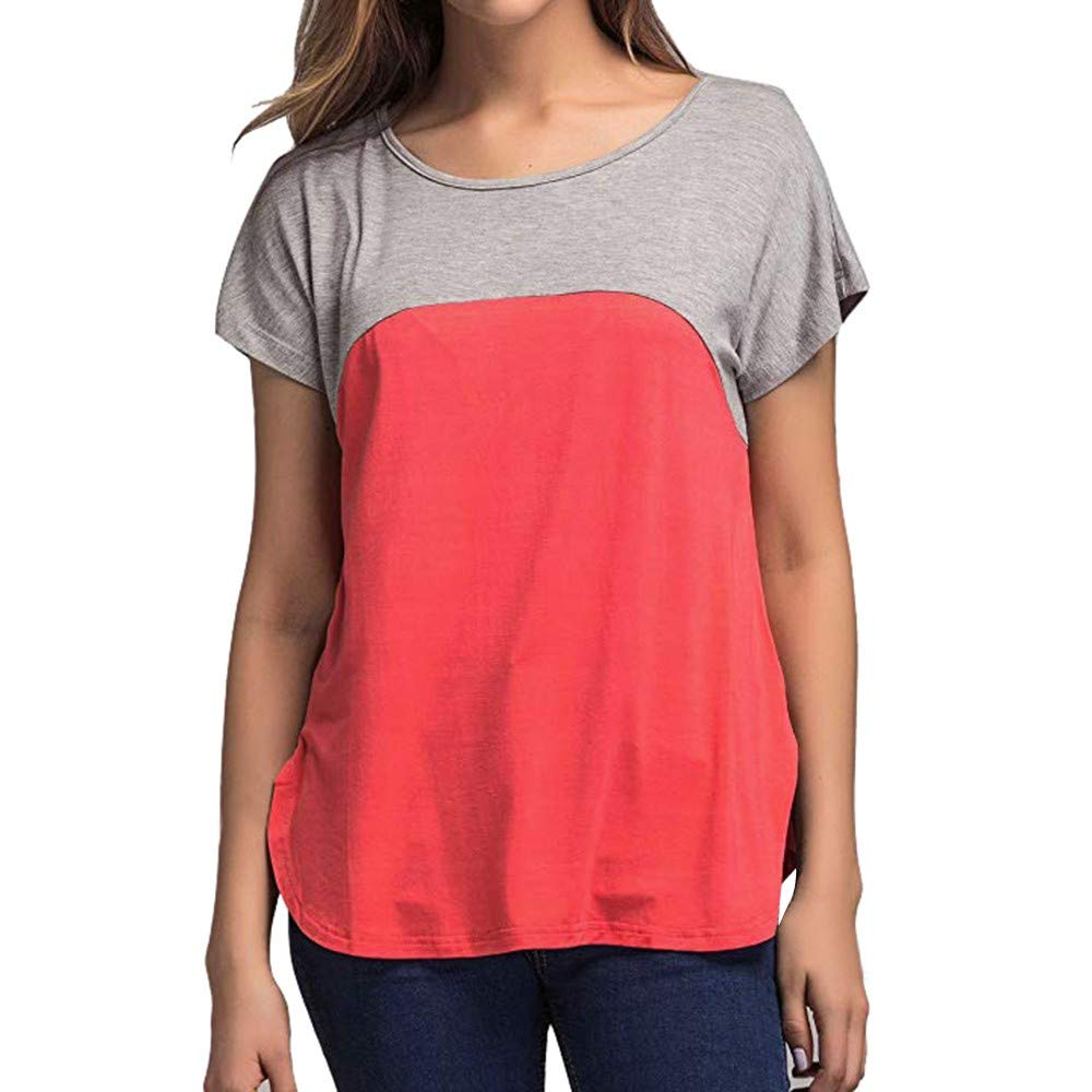 Women Casual Tops Color Block Raglan Blouse Jersey T-Shirt Shirt for Ladies Basic Vest Crop Tops Blue