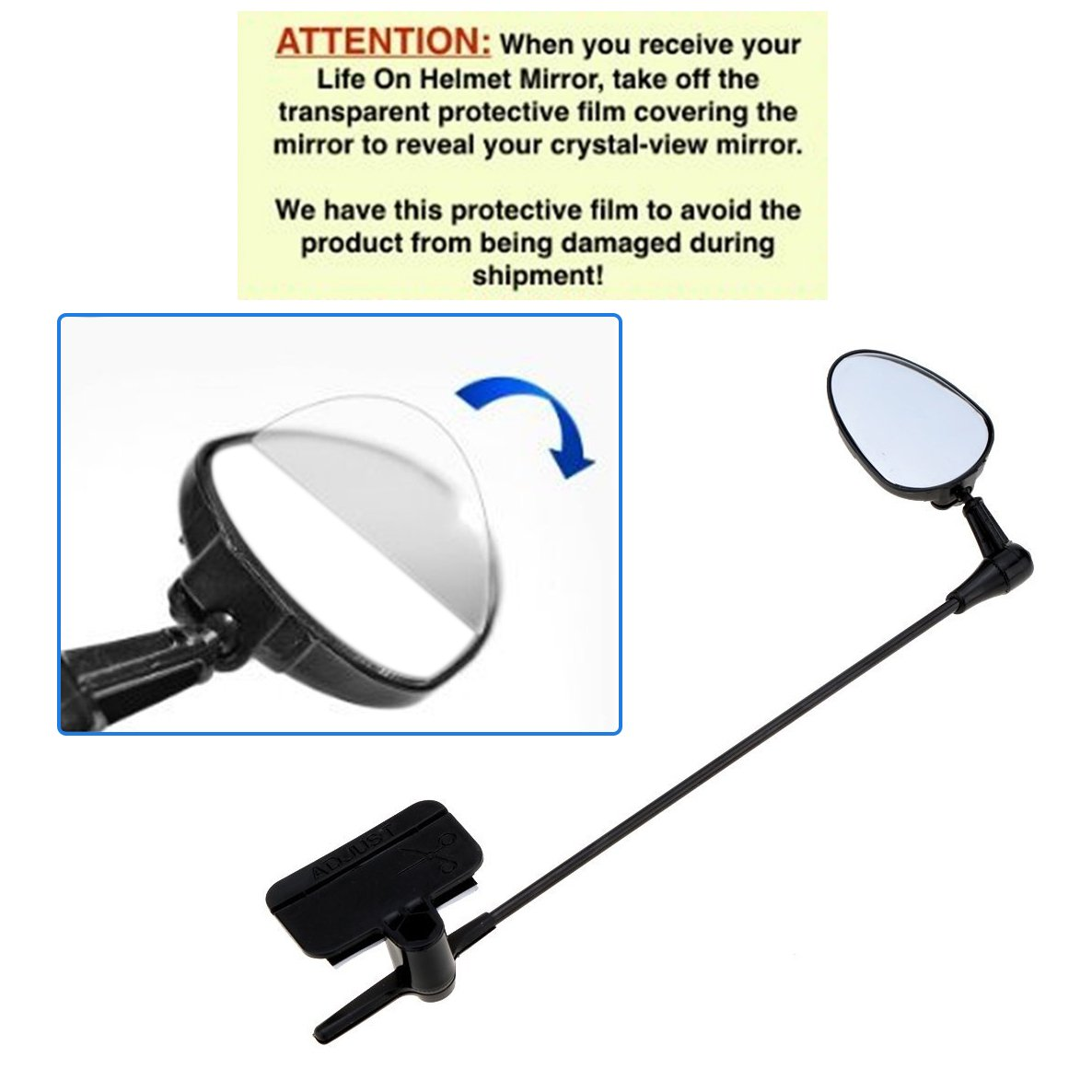 Adjustable Road Bicycle Rear View Mirrors Light Weight Mountain Bikes Side View Mirror for Cycling Riding MeanHoo Bike Helmet Mirror for Adult and Kids Motorcycle