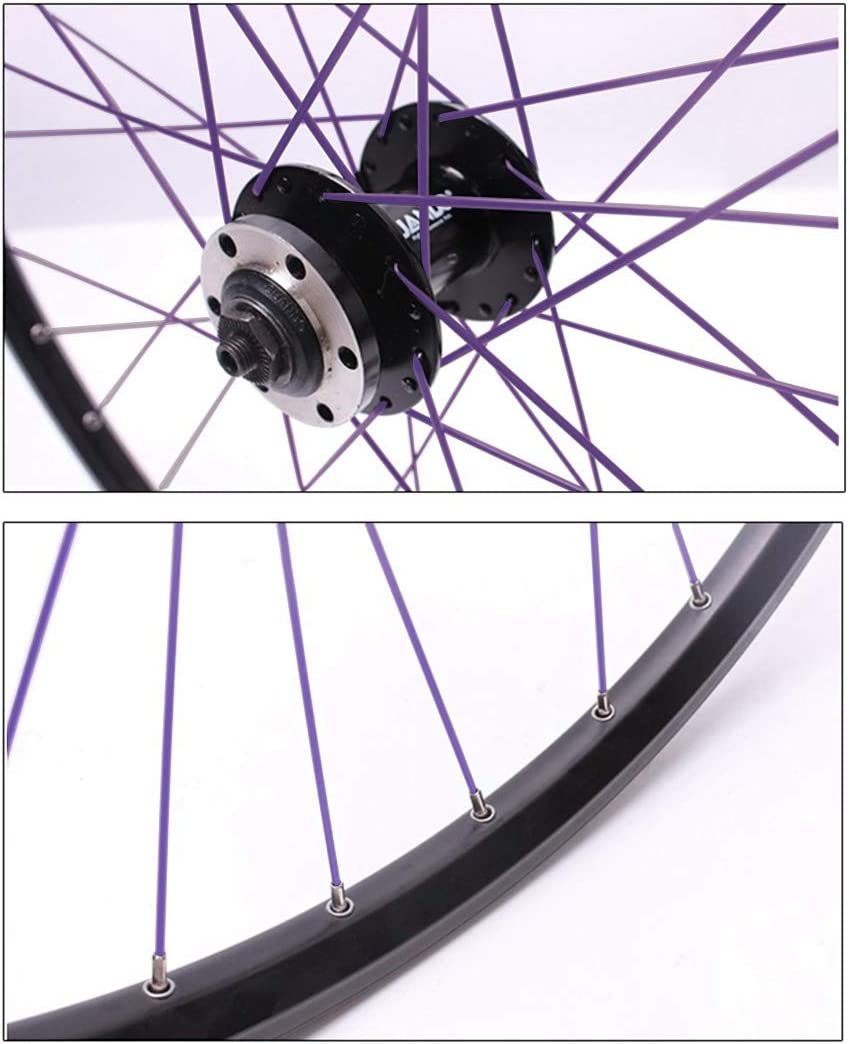Weichuang 36Pcs Bike Spokes 14G J Bend Steel Bicycle Spokes with Nipples Anti-rust Cycling Spokes Bicycle Accessories