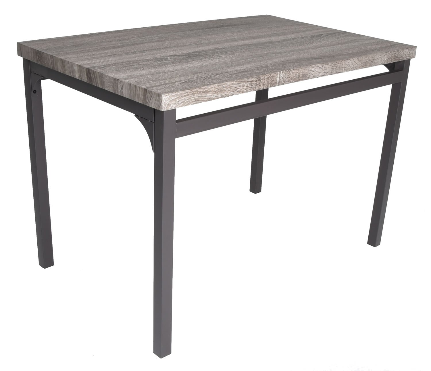 Zenvida 5 Piece Dining Set Rustic Grey Wooden Kitchen Table and 4 Chairs by Zenvida (Image #6)