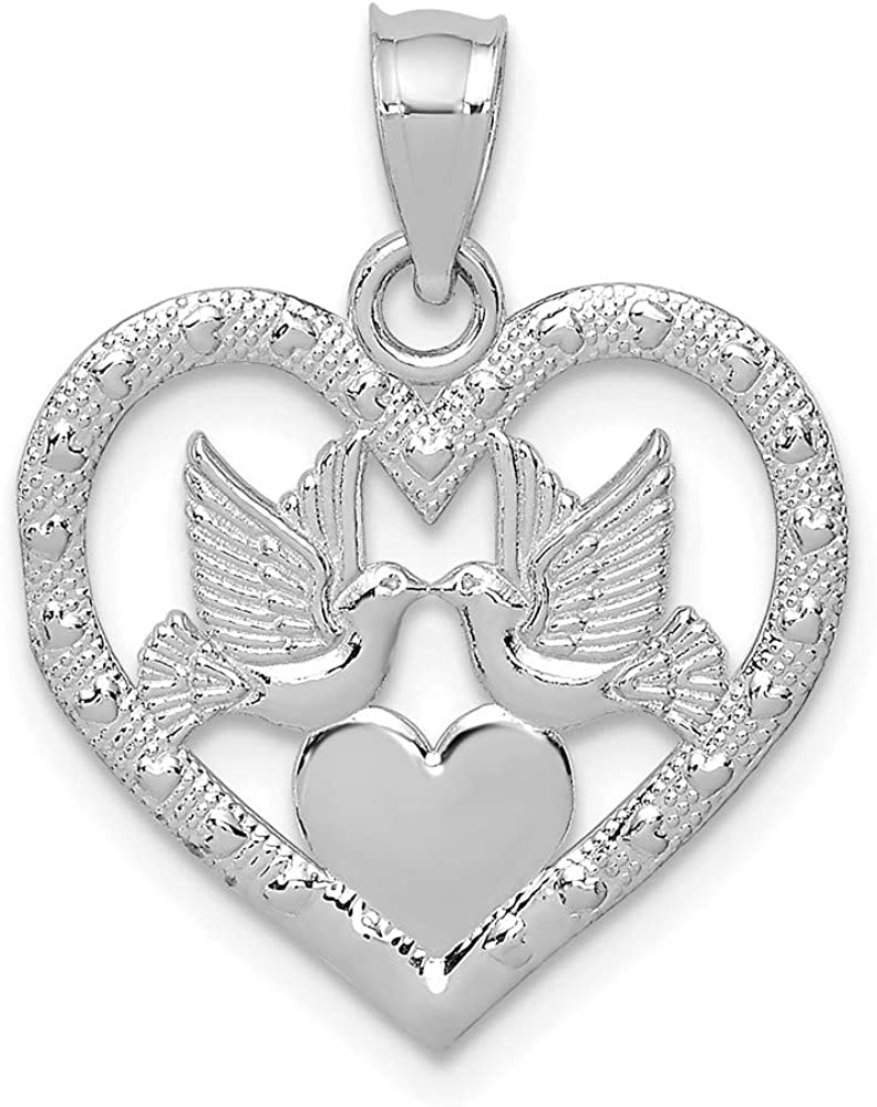14k White Gold Doves In Heart Pendant Charm Necklace Love Fine Jewelry For Women Gifts For Her 61kqCnPz7wLUL1000_