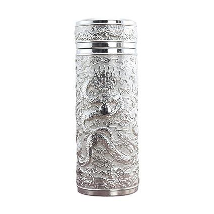 AILIWEI 999 Taza de Agua de Plata esterlina y Agua Caliente para el Negocio de la