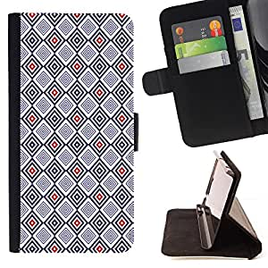 - Checkered Red Black Tiled - Estilo PU billetera de cuero del soporte del tir???¡¯????n [solapa de cierre] Cubierta- For Apple Iphone 6 PLUS 5.5 £¨ Devil Case £©