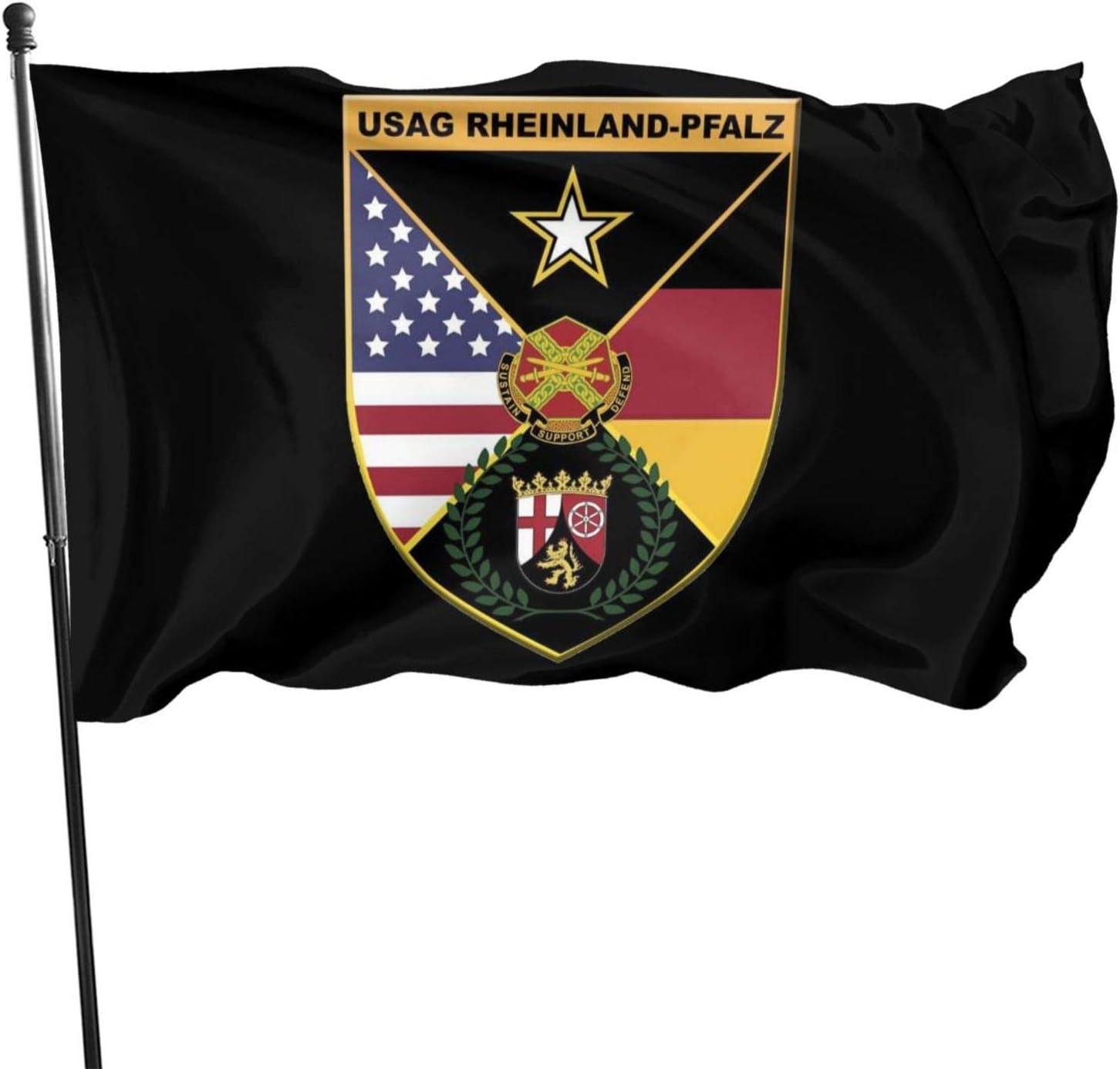 U.S. Army Garrison Rheinland-Pfalz Outdoor Garden Flag Indoor Flag Home Decor Standing Farm Flag Banner 3x5ft