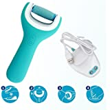 Meoro Electronic Foot File, Best Waterproof Pedicure Foot File Powerful Professional Pedicure and Manicure Tool - Buffs Away Dead,Hard Skin, Dry Callused Feet and Cracked (Cordless Built-in Charge )