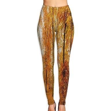 Amazon.com: Custom Yoga Pantalones Parque Lane Autumn Arce ...