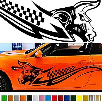 Amazoncom Bull Car Sticker Car Vinyl Side Graphics Car - Custom vinyl decals automotive