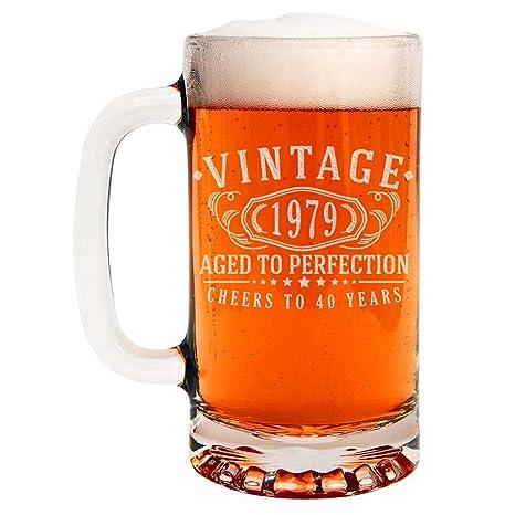 Amazon.com: Taza de cerveza de cristal con grabado de ...