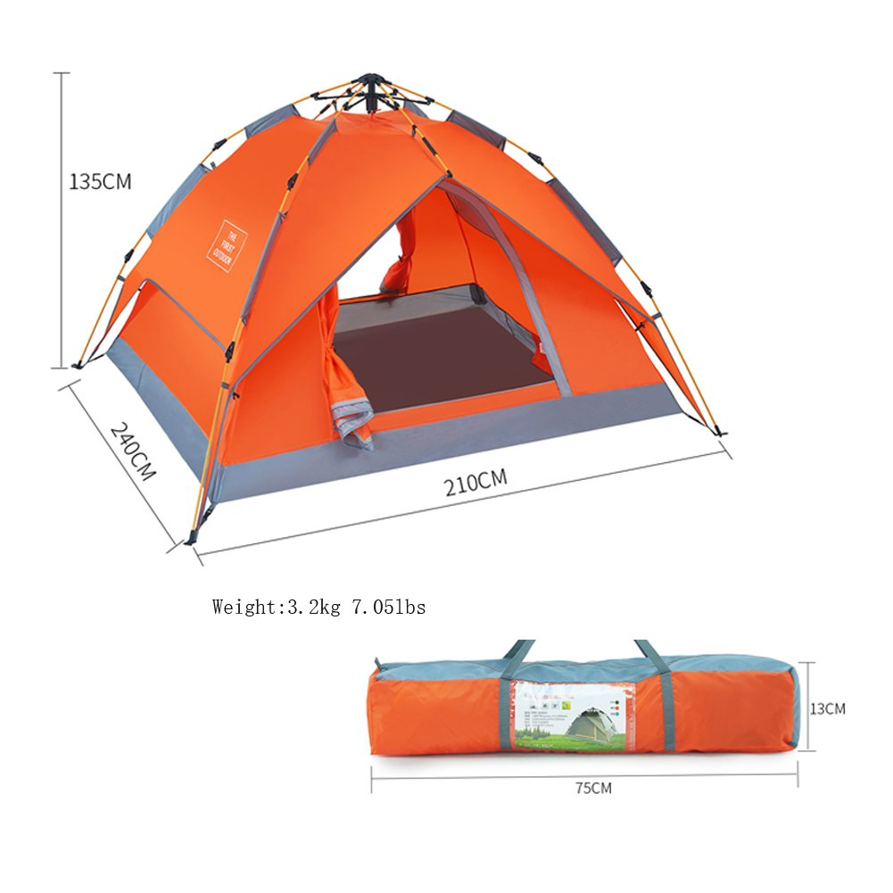 TFO Automatisches Wasserdichtes Kuppelzelt 2-3 Personen mit Jahreszeit Tragetasche Jahreszeit mit für Outdoor Sport, Klettern, Camping 166f46